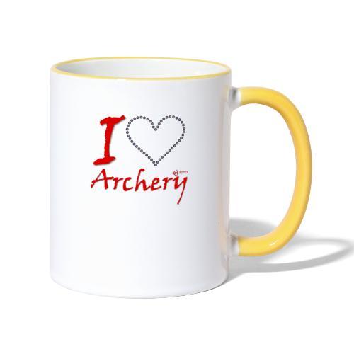 Archery Love - Tasse zweifarbig