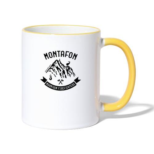 Montafon-Edition in Schwarz - Tasse zweifarbig