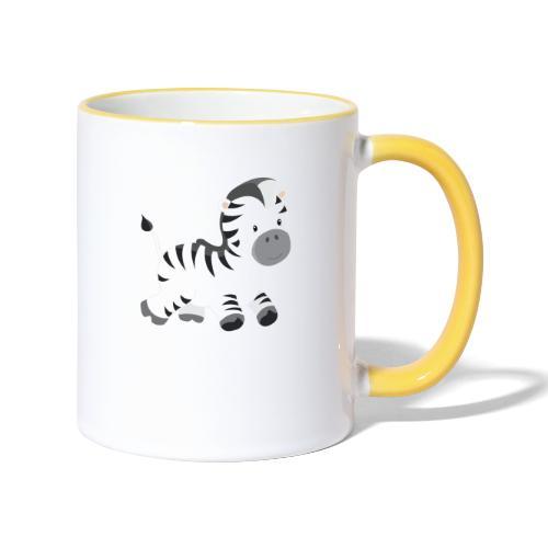 Zebra - Tasse zweifarbig