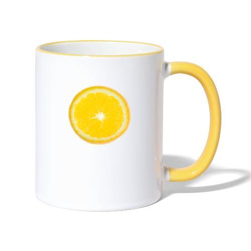 Orange - Tasse zweifarbig
