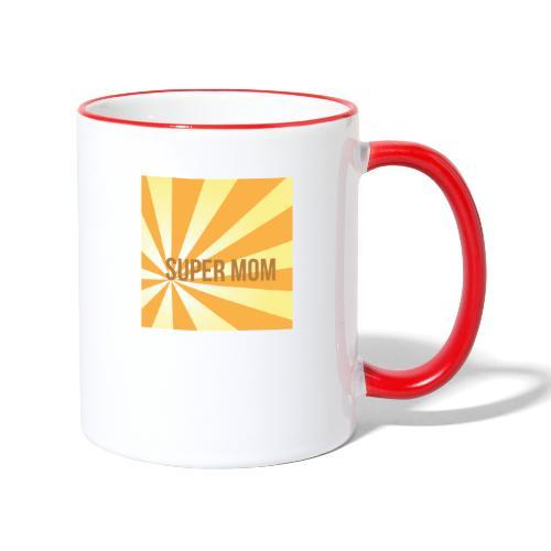 supermom maske2 - Tasse zweifarbig