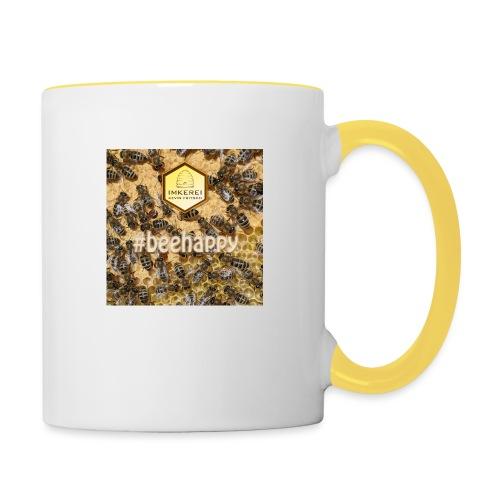 beehappy - Rettet die Bienen - Save our earth - Tasse zweifarbig