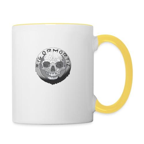 Rigormortiz Black and White Design - Contrasting Mug