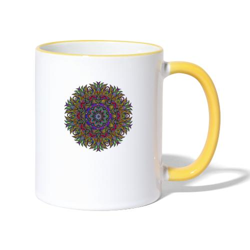 mandala - Tasse zweifarbig