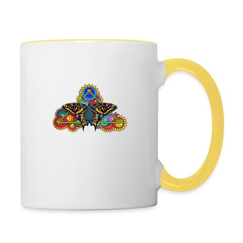 Happy Butterfly! - Tasse zweifarbig