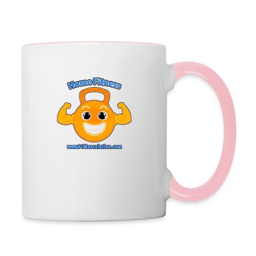 Logo 01Musculation Home Fitness Kettlebell - Mug contrasté