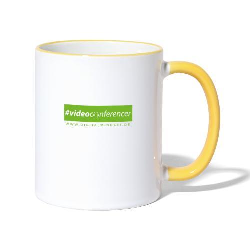 #videoconferencer - Tasse zweifarbig