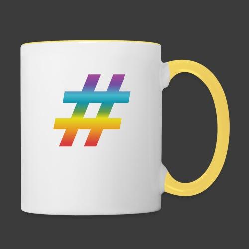 rainbow hash include - Contrasting Mug