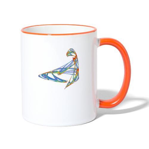 Fröhliches Farbenspiel 853 jet - Tasse zweifarbig