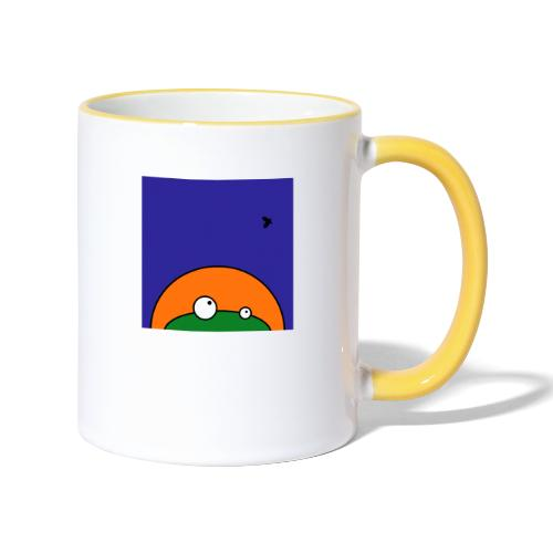 Hungry Frog - ready for dinner - Contrasting Mug