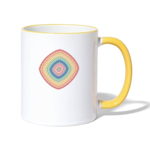 Lucky square in summery colors - Contrasting Mug