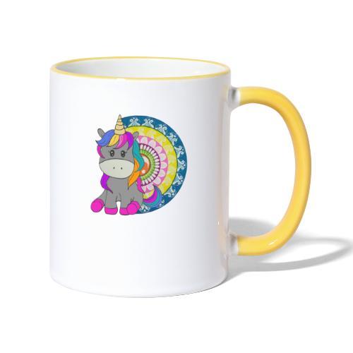Unicorno Mandala - Tazze bicolor