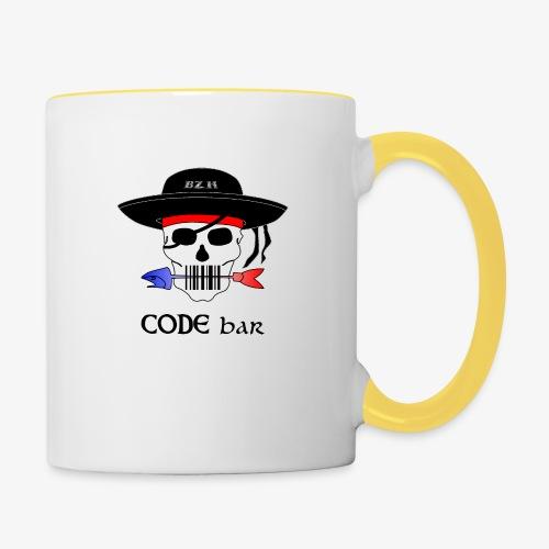 Code Bar couleur - Mug contrasté