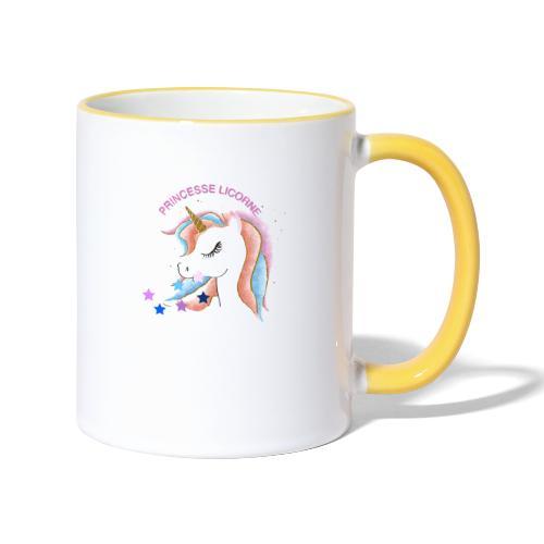 Princesse licorne - Mug contrasté