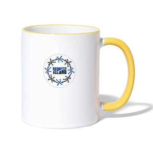 Badge Reunion Island Bleu - Mug contrasté