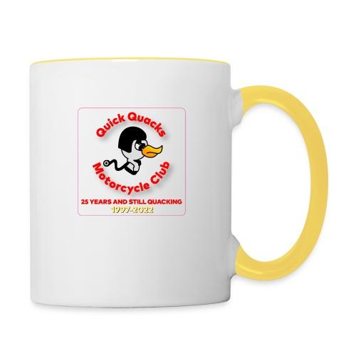 Quack logo 25 years no white square - Contrasting Mug