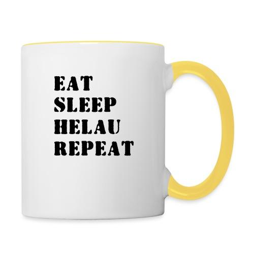 Eat Sleep Repeat - Helau VECTOR - Tasse zweifarbig