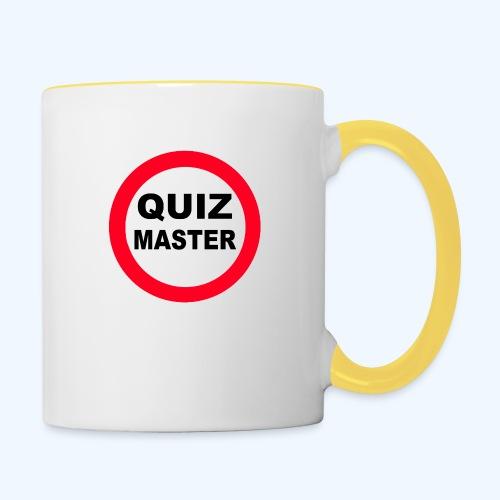 Quiz Master Stop Sign - Contrasting Mug