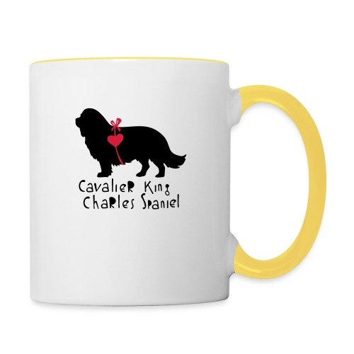 Cavalier Silhouette - Tasse zweifarbig