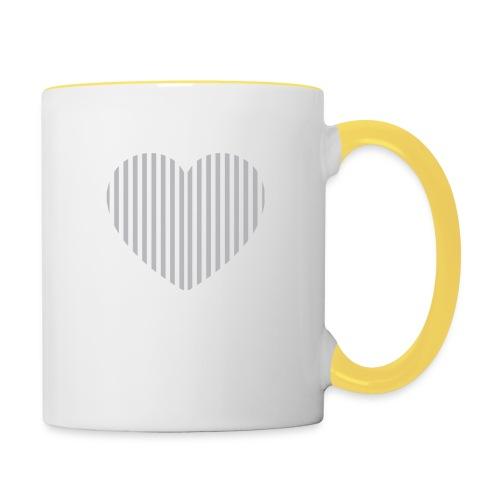heart_striped.png - Contrasting Mug