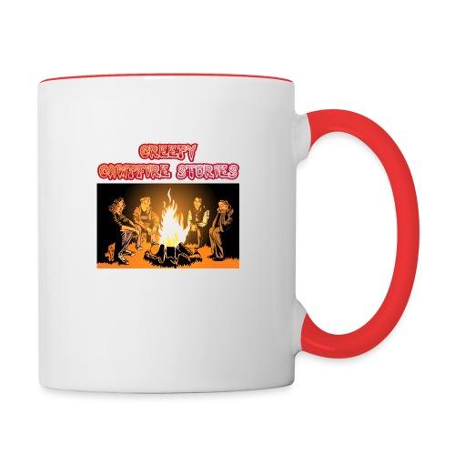 Campfire Shirt Front png - Tasse zweifarbig