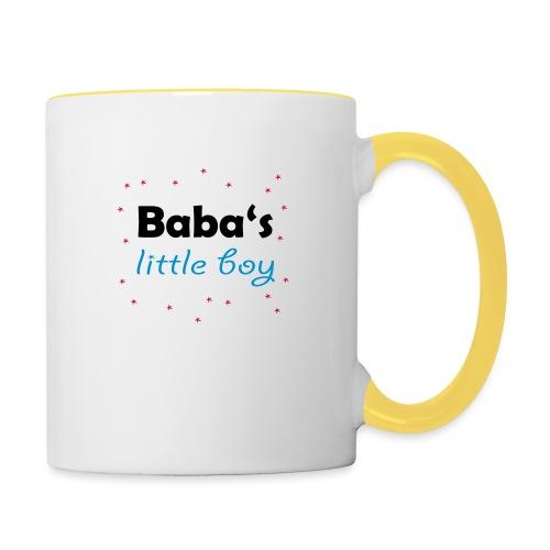 Baba's litte boy Babybody - Tasse zweifarbig
