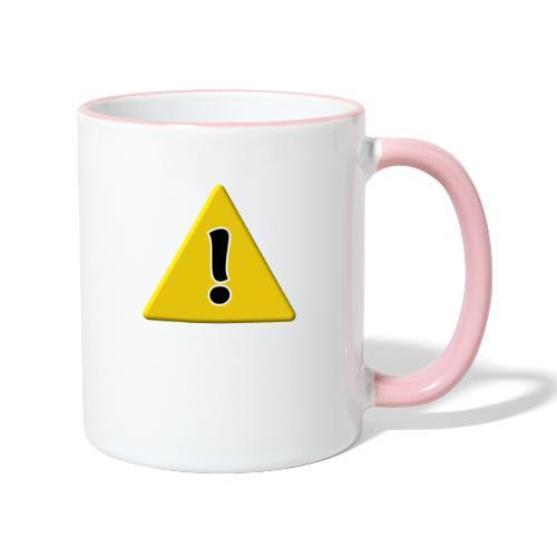 Warndreieck - Tasse zweifarbig