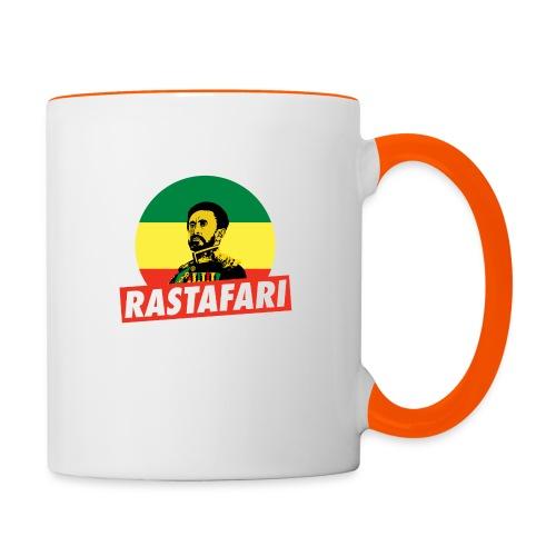 Haile Selassie - Emperor of Ethiopia - Rastafari - Tasse zweifarbig