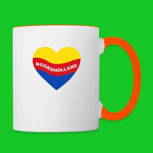 Love Noord Holland Hart.png - Mok tweekleurig