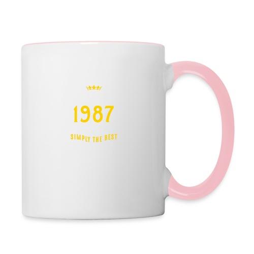 original since 1987 simply the best 30th birthday - Contrasting Mug
