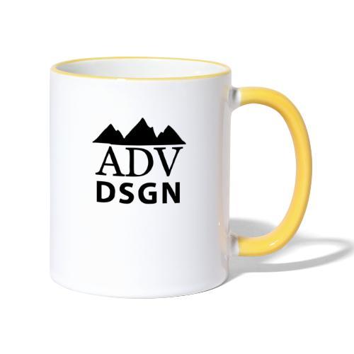 Logo ADV DSGN 2 - Tasse zweifarbig