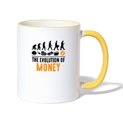 The Evolution of Money - Elon Musk - Taza en dos colores
