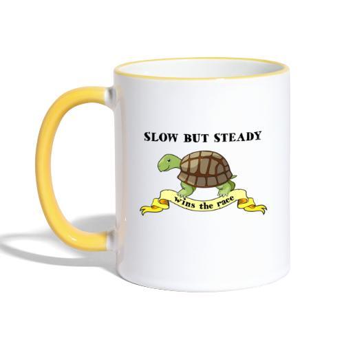 Slow but Steady - Tvåfärgad mugg