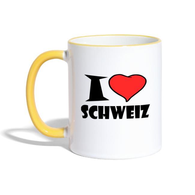 I love SCHWEIZ Tasse Kaffeetasse