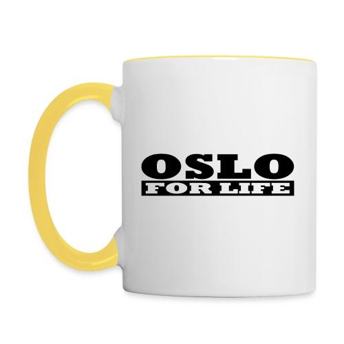 Oslo fürs Leben - Tasse zweifarbig