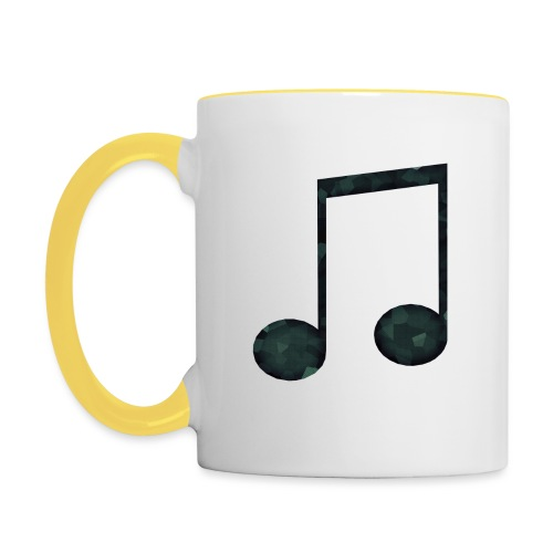 Low Poly Geometric Music Note - Contrasting Mug