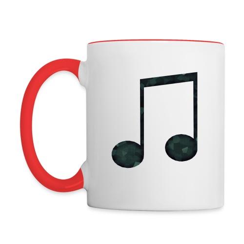 Low Poly Geometric Music Note - Contrasting Mug