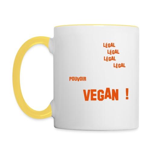 GO VEGAN - Mug contrasté