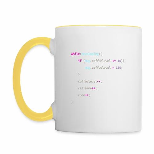 Coffee to Code - Programmer's Mug - Contrasting Mug
