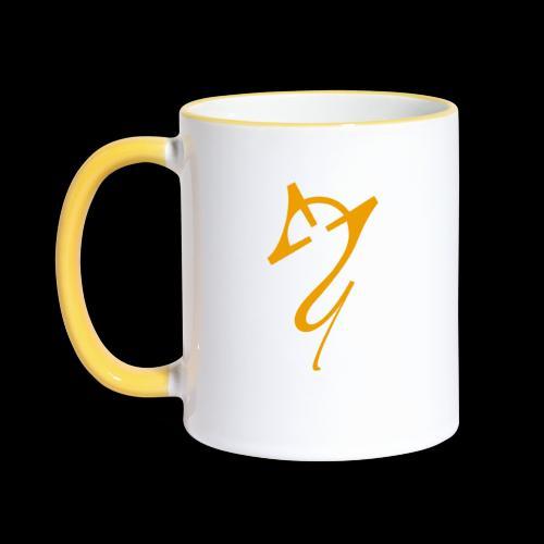 Overscoped logo yellow - Contrasting Mug