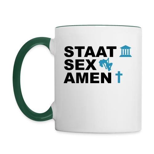 Staatsexamen / Staat Sex Amen - Tasse zweifarbig