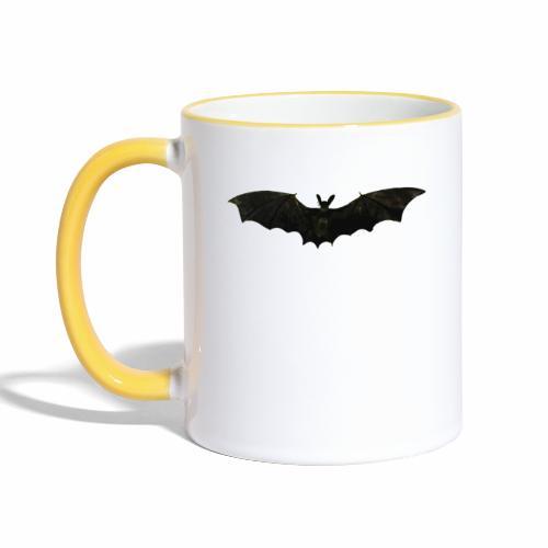 Fliegende Fledermaus - Tasse zweifarbig