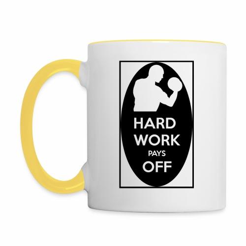 hard work pays off 2 cup.jpg - Contrasting Mug