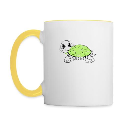 Schildkröte - Tasse zweifarbig