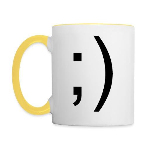 Wink Wink Smile - Contrasting Mug