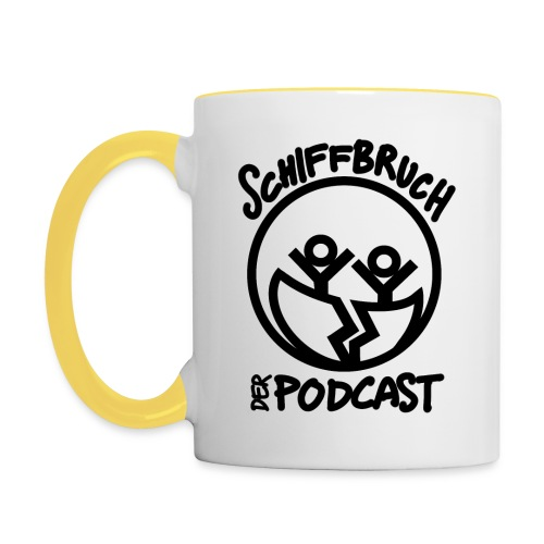 Schiffbruch - Der Podcast - Tasse zweifarbig