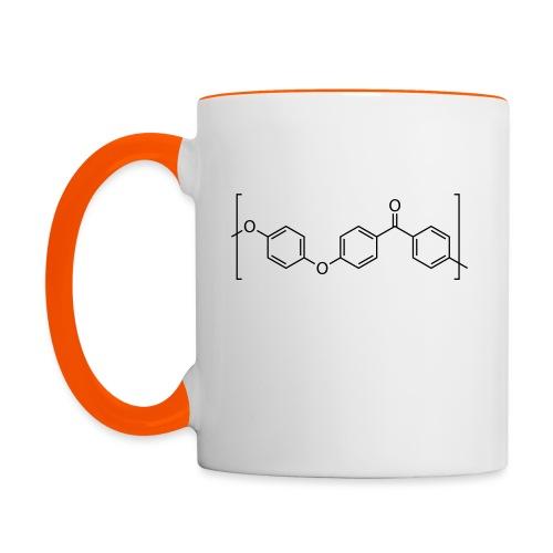 Polyetheretherketone (PEEK) molecule. - Contrasting Mug