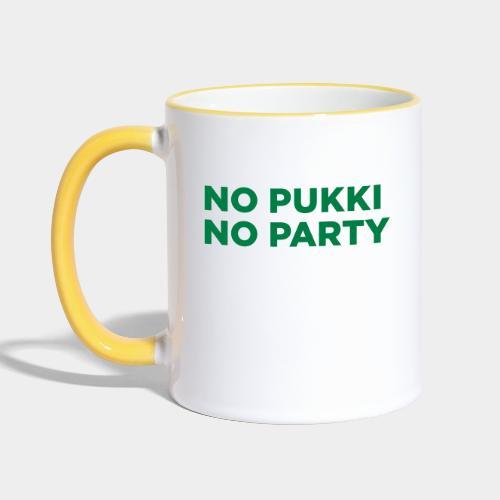 No Pukki, no party - Kaksivärinen muki