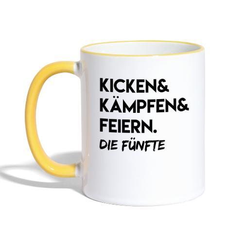 Kicken & Kämpfen & Feiern. Die Fünfte - Tasse zweifarbig
