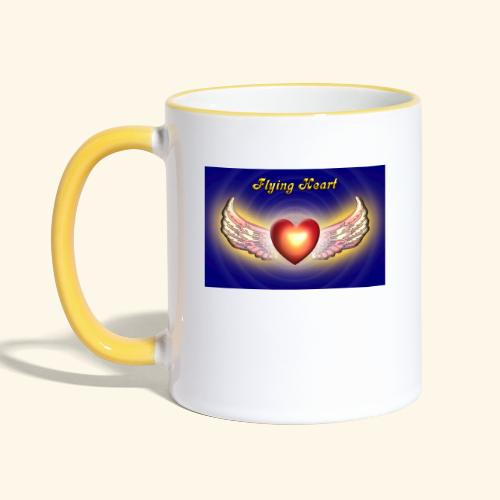 Flying Heart - Tasse zweifarbig